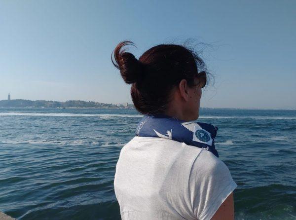 Almofada Térmica Terapêutica - Tensões e dores cervicais Azul Escuro Mar