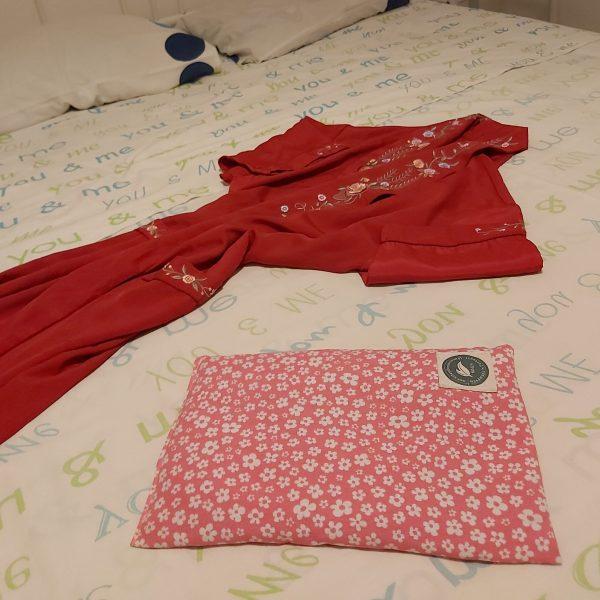 Almofada Terapêutica - Aquecer a cama - Rosa