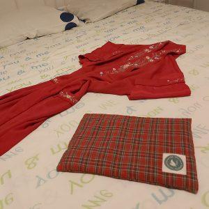 Almofada Terapêutica - Aquecer a cama - Vermelho