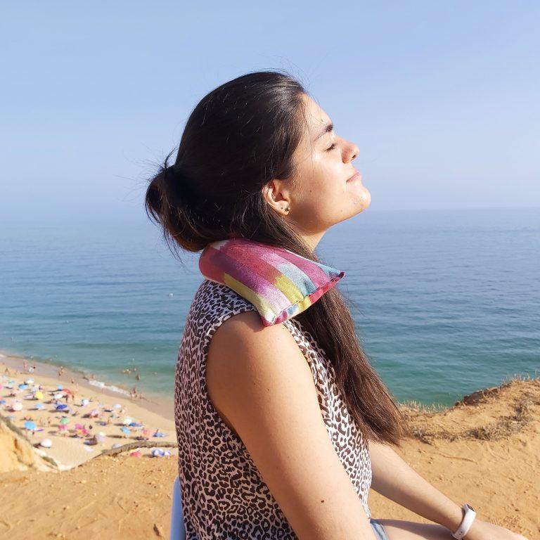Almofada Terapeutica - Dor e tensão na cervical - Riscas