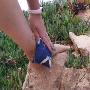 Almofada Terapeutica - Dor no Tornozelo - Azul